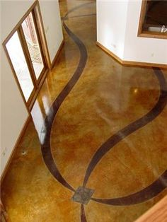 concrete floor acid stained