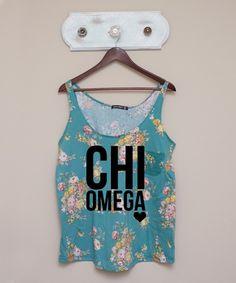 Chi Omega Floral Tank