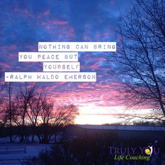 """#Quotes Ralph Waldo Emberson """"Nothing can bring you peace but yourself.'  Embedded image permalink"""