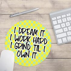 I Dream It Mouse Pad, Lemonade Mouse Pad, Lemon Mouse Pad, Formation Mouse Pad, Custom Mouse Pad, Pattern Mouse Pad (0048)
