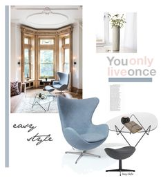 You only live once. Easy style! by mcheffer on Polyvore featuring interior, interiors, interior design, home, home decor, interior decorating, Rove Concepts, Gubi and FOSSIL