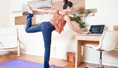 How to sneak squats and stretches in at work: