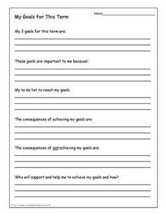 My Goals for School