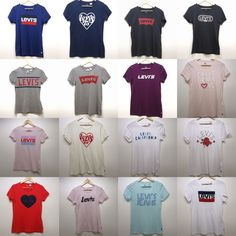 c71f919ea497dc New Levi s Womens Short Sleeve ALL COLORS Crewneck Graphic Tee T-Shirts  XS-XXL  Levis  TShirt