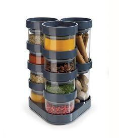 Pojemniki na przyprawy Spice Store 10 szt. grafitowe - małe zdjęcie