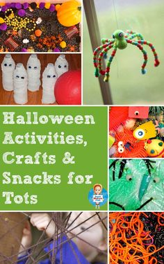 This is a great round up of Halloween activities, crafts and snacks for toddlers and preschoolers