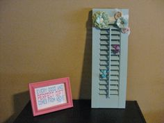 DIY shutter project: makes a great holder for little girl's hair accessories!