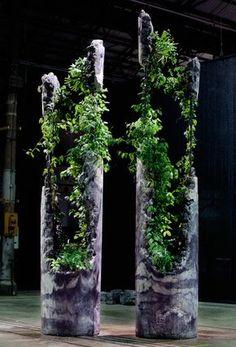 diy betonsaeule zum bepflanzen pflanzturm aus beton