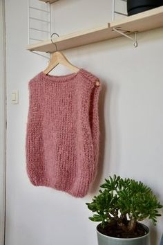 Knit Vest Pattern, Top Pattern, Kreative Jobs, Knitting Projects, Knitting Patterns, Mode Ab 50, Crochet Clothes, Diy Fashion, Baby Knitting