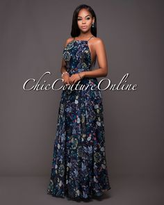 Chic Couture Online - Yola Navy-Blue Floral Print CrissCross Back Maxi Dress.(http://www.chiccoutureonline.com/yola-navy-blue-floral-print-crisscross-back-maxi-dress/)