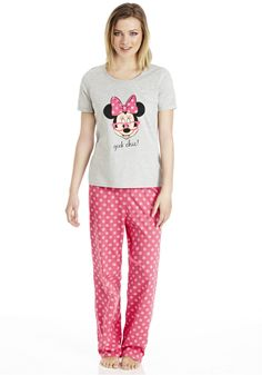 Clothing at Tesco | Disney Minnie Mouse Geek Chic Pyjamas > nightwear > Nightwear & Slippers > women