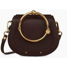 Small Nile bracelet bag ❤ liked on Polyvore featuring bags, handbags, brown handbags, brown bag and brown purse