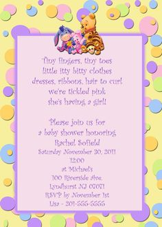 Winnie The Pooh Baby Shower Invitations 2 Styles By Photo18, $15.99