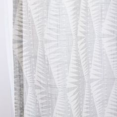 Sheer Cotton Geo Spike Curtains (Set of 2) | west elm