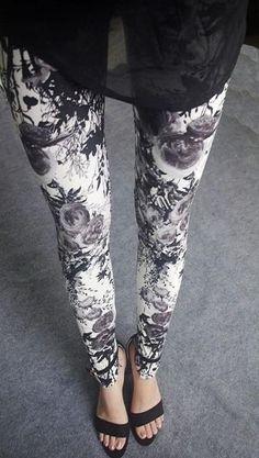 BIVIGAOS Spring Summer Womens Fashion Black Milk Thin Stretch leggings Colored Stars Graffiti Slim Skinny Leggings Pants Female