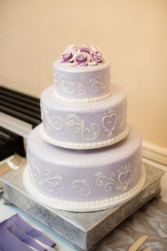 A Regal Purple California Wedding From The Youngrens photography - purple wedding cake idea