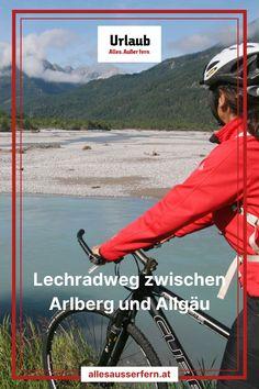 Entspannt Radfahren in unberührter Natur entlang des Tiroler Lechs. Die leichte Strecke ist auch für ungeübte Radfahrer leicht zu schaffen. Unterwegs kann man nicht nur die einzigartige Wildflusslandschaft entlang des Lechs erkunden, es gibt auch viele Sehenswürdigkeiten, die vom Radweg aus gut erreichbar sind. Urlaub mit dem Rad | Tiroler Lechtal | Urlaub Tirol. Mit Unterstützung von Bund, Land und Europäischer Union (LEADER). Austria, Athletic, Jackets, Fashion, Bike Trails, Day Trips, Recovery, Explore, Alps