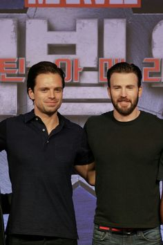 Sebastian Stan & Chris Evans