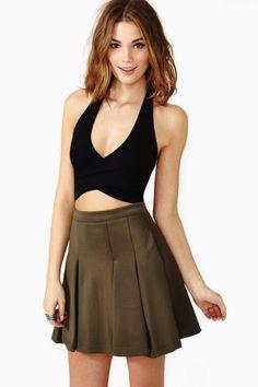 tiny top with voluminous skirt