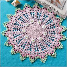 Sandcastles doily to crochet - free pattern