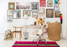 Home Office - Explore Textile Importer Jenni Li's Colorful Brooklyn Home - Photos