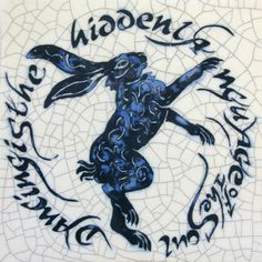 "Small Square Hare Tile ""Dance is the hidden language of the soul"""