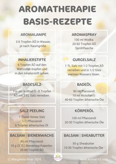 The 12 best aromatherapy recipes + PDF- Die 12 besten Aromatherapie Basisrezepte + PDF essential oils recipes - Shampooing Diy, No Gluten Diet, The Obesity Code, Aromatherapy Recipes, Best Cardio Workout, Thing 1 Thing 2, Doterra, Diy Beauty, Beauty Care