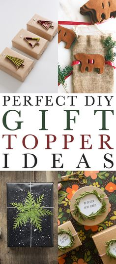 Perfect DIY Gift Topper Ideas