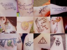 Hp tattoos - I'd be tempted to get a couple of these