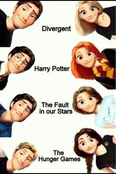 Divergent, TFIOS, Hunger Games