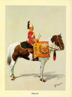 Kettledrummer, full dress of 3rd(Prince of Wales's) Dragoon Guards 1912. by R.Simkin