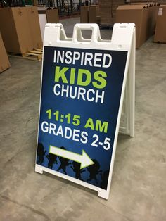 Restoration Church Buford Ga Is A New Church Plant That Meets In A School Cafeteria Sidewalk Style Signs Are Versatile Can Be Used Inside Or O Pinteres