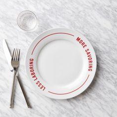 Red Stripe Pizza Plates - Less Laboring, More Savoring