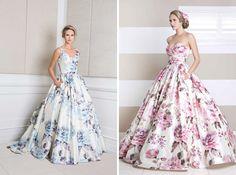17 Floral Wedding Dresses You Can Shop Now via Brit + Co.