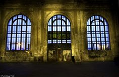 Arch window: The Oakland station's stunning arched windows are still in place