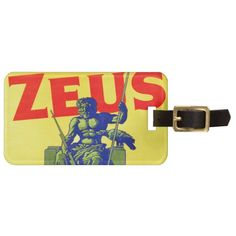 Zeus - Vintage Poster Design Travel Bag Tag