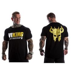 VIKING 2018 New Brand clothing Gyms Tight t-shirt mens fitness t-shirt homme Gyms t shirt men fitness crossfit Summer tops