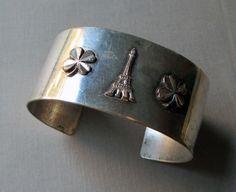 vintage paris bangle cuff bracelet eiffel by TheParisCarousel, $28.00