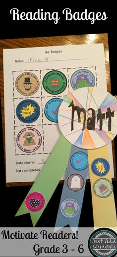 Genre Badges motivate students to read different types of books. 16 genre badges can be used on tic tac toe boards or ribbons. Keep students reading a variety of texts all year!