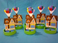 Centro de Mesa - Casa com Balões (Up)