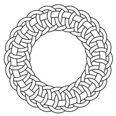 Celtic knot-work circle garland by Peter Mulkers Islamic Patterns, Celtic Patterns, Celtic Designs, Pattern Coloring Pages, Free Coloring Pages, Arte Viking, Celtic Border, Decorative Metal Screen, Circle Garland