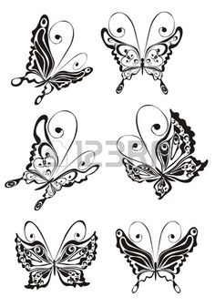 Set Schmetterling Lizenzfreie Bilder