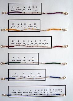 Choice of Two (Silver) - Sherlock Holmes Morse Code Bracelets on Etsy, $15.38