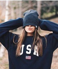 USA Letter Flag Print Sweatshirt Hoodies 2019 Autumn Female O-Neck Long Sleeve Women Crop Top White Black Girl Casual Pullover Sports Sweatshirts, Printed Sweatshirts, Hoodies, Estilo Harajuku, Harajuku Style, Tumblr Outfits, Aesthetic Clothes, Casual Tops, Coats For Women