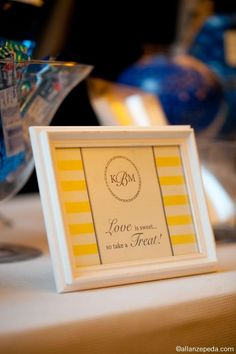 our monogrammed candy bar signs