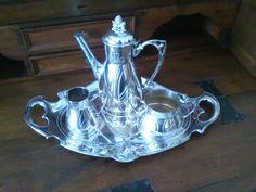 Vintage teiera, zuccheriera, lattiera placcata argento / Servizio tavolo silver di VintaFai su Etsy