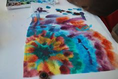 Water Colors on Paper Towel   Familylicious