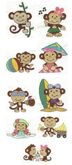 Embroidery | Free machine embroidery designs | Monkey Business