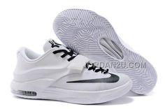 http://www.jordan2u.com/nike-kd-7-all-white-and-black-basketball-shoes.html Only$99.00 #NIKE KD 7 ALL WHITE AND BLACK BASKETBALL #SHOES #Free #Shipping!