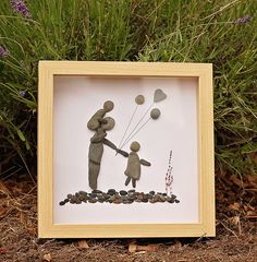 A Father's Day present. Pebble art by www.saltandpebbles.com